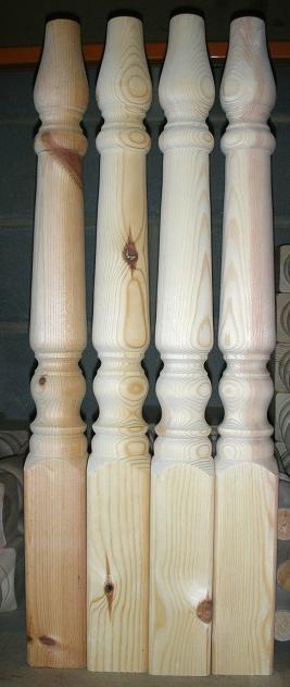 3 inch Farmhouse Table Legs - set(4)
