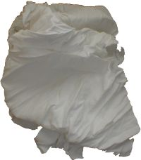 White Cotton Polishing Cloth