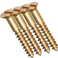 Brass Slotted CSK Wood Screws
